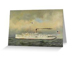 Antonio Jacobsen - U.S. Army Transport Terry  Greeting Card