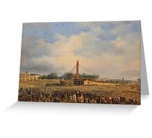 François Dubois - Erection of the Luxor Obelisk on the Place de la Concorde  Greeting Card