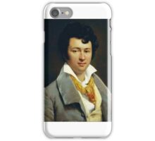 François Edouard Picot - Portrait of a Young Man Wearing a Yellow Scarf iPhone Case/Skin