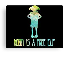 Dobby Is A Free Elf - Colourful Silhouette #2 Canvas Print