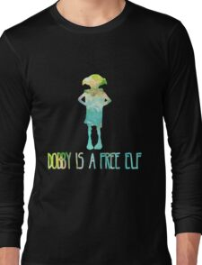 Dobby Is A Free Elf - Colourful Silhouette #2 Long Sleeve T-Shirt