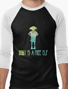 Dobby Is A Free Elf - Colourful Silhouette #2 Men's Baseball ¾ T-Shirt