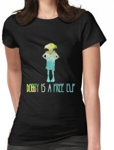 Dobby Is A Free Elf - Colourful Silhouette #2 Womens Fitted T-Shirt
