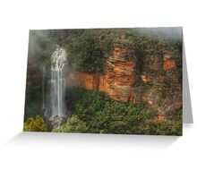 Wentworth Falls After The Big Rain Greeting Card