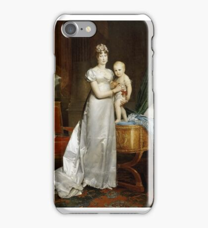 François Gérard - Marie-Louise, Empress of France and Queen of Rome iPhone Case/Skin