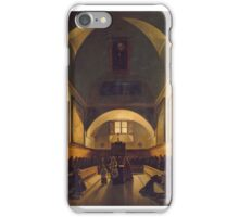 François Marius Granet - Interior of the Choir in the Capuchin Church in Rome  iPhone Case/Skin