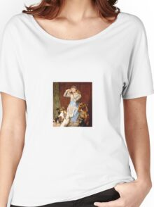 Briton Riviere - Girl With Dogs  Women's Relaxed Fit T-Shirt