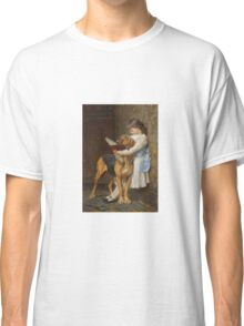 Briton Riviere - Reading Lesson Compulsory Education Classic T-Shirt