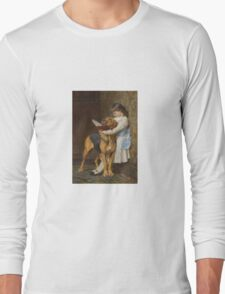Briton Riviere - Reading Lesson Compulsory Education Long Sleeve T-Shirt