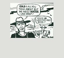 Comic strip artwork of prospectors in Aussie outback Unisex T-Shirt