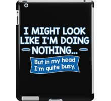 head busy iPad Case/Skin