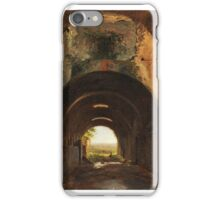 François-Marius Granet - View in the Stables of the Villa of Maecenas, Tivoli ca. iPhone Case/Skin