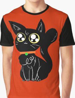Cute Halloween Black Cat Graphic T-Shirt