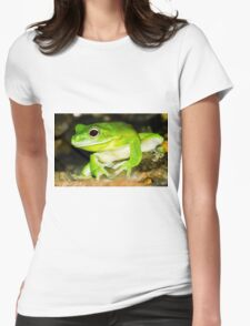 White lipped Tree Frog Womens Fitted T-Shirt