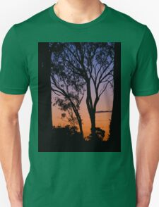 The sunset through the trees Unisex T-Shirt