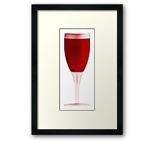 Red Wine Glass Drawing Framed Print