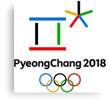 PyeongChang 2018 Winter Olympics best logo Canvas Print
