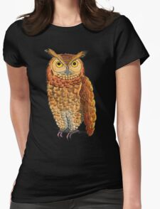 How Now Night Owl Womens Fitted T-Shirt