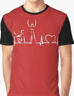 Yoga Heartbeat Graphic T-Shirt
