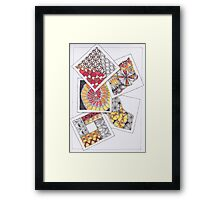 Zentangle Inspired Artwork (ZIA) - Tumbling Blocks Framed Print