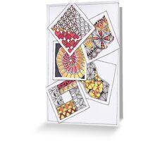 Zentangle Inspired Artwork (ZIA) - Tumbling Blocks Greeting Card