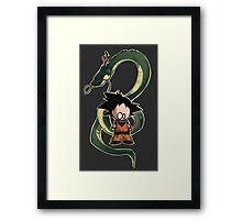 Goku chibi Framed Print