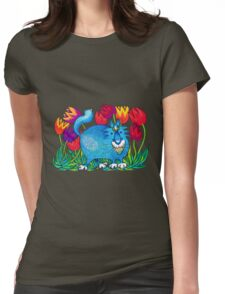Prussian Blue Womens Fitted T-Shirt