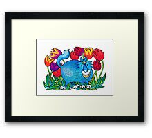 Prussian Blue Framed Print