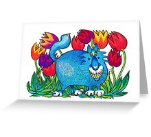 Prussian Blue Greeting Card