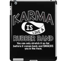 karma rubber iPad Case/Skin