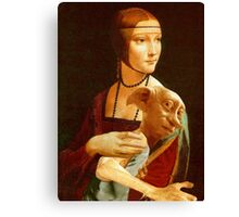 Lady With Dobby Canvas Print