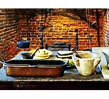 Mortar and Pestles in Colonial Kitchen Photographic Print