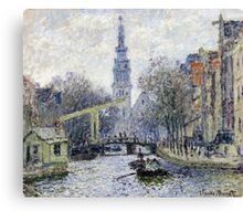 Claude Monet - Canal Amsterdam Canvas Print