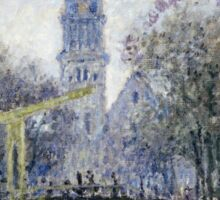 Claude Monet - Canal Amsterdam Sticker