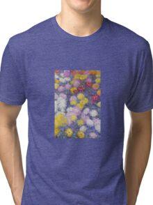 Claude Monet - Chrysanthemums  Tri-blend T-Shirt