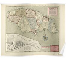 American Revolutionary War Era Maps 1750-1786 164 A new map of Jamaica in which the several towns forts & settlements are accurately laid down as well as the Poster