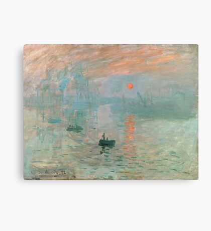 Claude Monet - Impression Sunrise Canvas Print