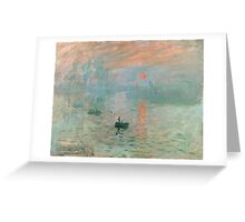 Claude Monet - Impression Sunrise Greeting Card