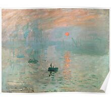 Claude Monet - Impression Sunrise Poster