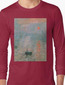 Claude Monet - Impression Sunrise Long Sleeve T-Shirt