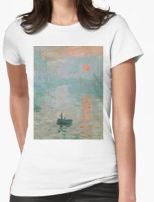 Claude Monet - Impression Sunrise Womens Fitted T-Shirt