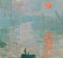 Claude Monet - Impression Sunrise Sticker