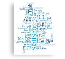 MOBA wordcloud - ocean floor Canvas Print