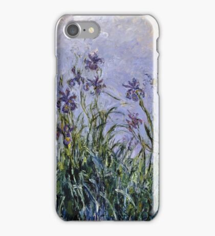 Claude Monet - Iris Mauves iPhone Case/Skin