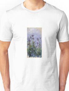 Claude Monet - Iris Mauves Unisex T-Shirt