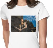 Glitter and Glamour and Chic - High Fashion Shop Window Reflections Womens Fitted T-Shirt