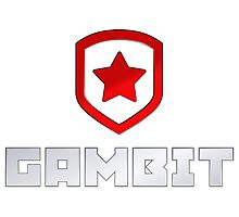 Team Gambit logo Photographic Print
