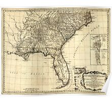 American Revolutionary War Era Maps 1750-1786 050 A general map of the middle British colonies in America 16 Poster