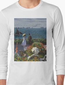 Claude Monet - Jardin a Sainte Adresse Long Sleeve T-Shirt