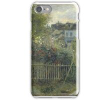 Claude Monet - Monet Painting in his Garden At Argenteuil  iPhone Case/Skin